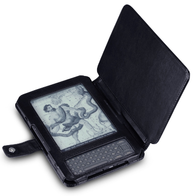 View Item Kindle 3 Premium Pu Leather Wallet Case - Black