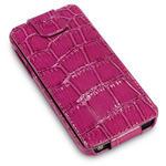 View Item iPhone 5 Covert Low Profile Flip Case - Purple Crocodile Skin