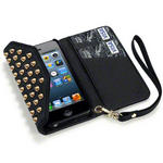 View Item iPhone 5 Covert Trendy Studded Rock Chic Purse Case