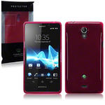 View Item Sony Xperia T TPU Gel Skin Case - Red