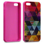 View Item iPhone 5 Pyramid Patchwork Back Cover Fashion Case Mullticoloured