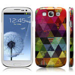 View Item Samsung Galaxy S3 I9300 Pyramid Patchwork Back Cover Fashion Case Mullticoloured