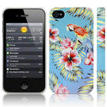View Item iPhone 4S / 4 Totally Tropical Hawaiian Parrot Blue / Green (Designed by Creative Eleven)