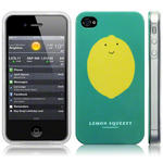 View Item iPhone 4S / 4 Novelty Character Lemon Squeezy Yellow And Green Hard Back Case