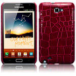 View Item Samsung Galaxy Note Pu Leather Snap On Case Red Crocodile Skin