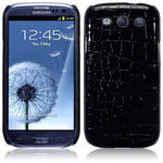 View Item Samsung Galaxy S3 I9300 Covert Pu Leather Snap On Case - Black Crocodile Skin
