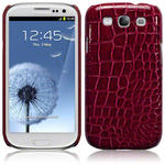 View Item Samsung Galaxy S3 I9300 Covert Pu Leather Snap On Case - Red Crocodile Skin