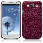 View Item Samsung Galaxy S3 I9300 Covert Pu Leather Snap On Case - Purple Crocodile Skin