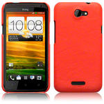 View Item HTC One X Covert Pu Leather Snap On Case - Orange