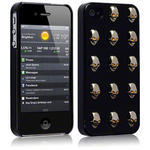 View Item iPhone 4S / 4 A Skullduggery Case - Skull Black With Silver Skulls And Gold Diamante Eyes By Creative Eleven