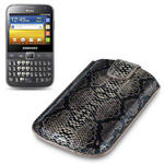 View Item Samsung Galaxy Y Pro Duos Covert Executive Pocket Pouch Case - Snakeskin