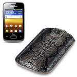 View Item Samsung Galaxy Y Duos Covert Executive Pocket Pouch Case - Snakeskin