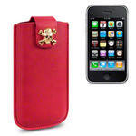 View Item iPhone 3GS / 3G A Skullptured Pouch Case (Gold Skull) by Creative Eleven - Red