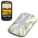 View Item HTC Desire C Executive Pouch Case - Gold Union Jack by Terrapin