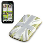 View Item Motorola Defy+ (Plus) Executive Pouch Case - Gold Union Jack by Terrapin