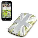 View Item Motorola Defy+ (Plus) Executive Pouch Case - Gold Union Jack by Terrapin