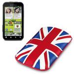 View Item Motorola Defy+ (Plus) Executive Pouch Case - Union Jack By Terrapin