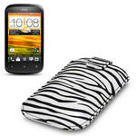 View Item HTC Desire C Zebra Striped Premium Pu Leather Case