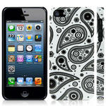 View Item iPhone 5 Arctic Paisley Fashion Case - Black On White