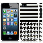View Item iPhone 5 Houndstooth Fashion Case - Black & White