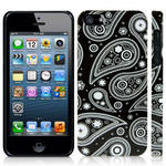View Item iPhone 5 Twilight Paisley Fashion Case - White On Black