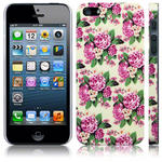 View Item iPhone 5 Trendy Floral Pretty Petal Fashion Case - Pink And White Flowers