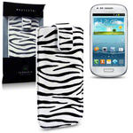 View Item Samsung I8190 Galaxy S3 Mini Pu Leather Pocket Case - Zebra Stripes
