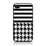 View Item iPhone 4S / 4 Houndstooth Fashion Case Black & White