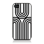 View Item iPhone 4S / 4 Geometric Deco Series No1 Fashion Case Black & White