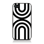 View Item iPhone 4S / 4 Geometric Deco Series No2 Fashion Case Black & White
