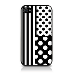 View Item iPhone 4S / 4 Geometric Deco Series No3 Fashion Case Black & White