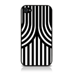 View Item iPhone 4S / 4 Geometric Deco Series No4 Fashion Case Black & White
