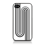 View Item iPhone 4S / 4 Geometric Deco Series No5 Fashion Case Black & White