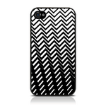 View Item iPhone 4S / 4 Geometric Deco Series No6 Fashion Case Black & White