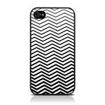 View Item iPhone 4S / 4 Geometric Deco Series No7 Fashion Case Black & White