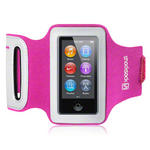 View Item iPod Nano 7 Custom Fit Shocksock Reflective Sports Armband - Hot Pink
