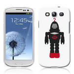 View Item Samsung Galaxy S3 I9300 Vintage Retro Black Robot With Red Hook Hard Back Case