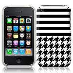 View Item iPhone 3GS / 3G Houndstooth Fashion Case Black & White