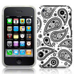 View Item iPhone 3GS / 3G ArcticPaisley Fashion Case Black On White