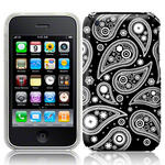View Item iPhone 3GS / 3G Twilight Paisley Fashion Case White On Black