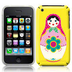 View Item iPhone 3GS / 3G Novelty Russian Doll Fashion Case Yellow