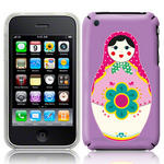 View Item iPhone 3GS / 3G Novelty Russian Doll Fashion Case Purple
