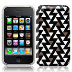 View Item iPhone 3GS / 3G Tessellating Triangles Fashion Case White/Beige/Black