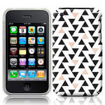 View Item iPhone 3GS / 3G Tessellating Triangles Fashion Case Black/Beige/White