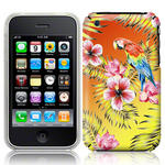 View Item iPhone 3GS / 3G Hawaiian Print Totally Tropical Case Parrot With Orange And Yellow Vingette