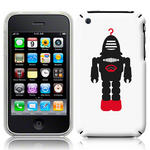 View Item iPhone 3GS / 3G Vintage Retro Black Robot With Red Hook Hard Back Case