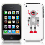 View Item iPhone 3GS / 3G Vintage Retro Grey Robot With Red Antenna Hard Back Case