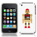 View Item iPhone 3GS / 3G Vintage Retro Gold Robot With Red Hat Hard Back Case