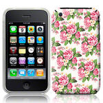 View Item iPhone 3GS / 3G Trendy Floral Pretty Petal Fashion Case Pink And White Flowers