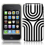 View Item iPhone 3GS / 3G Geometric Deco Series No1 Fashion Case Black & White